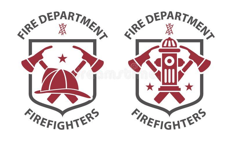 Pittogrammi rossi del vigile del fuoco royalty illustrazione gratis