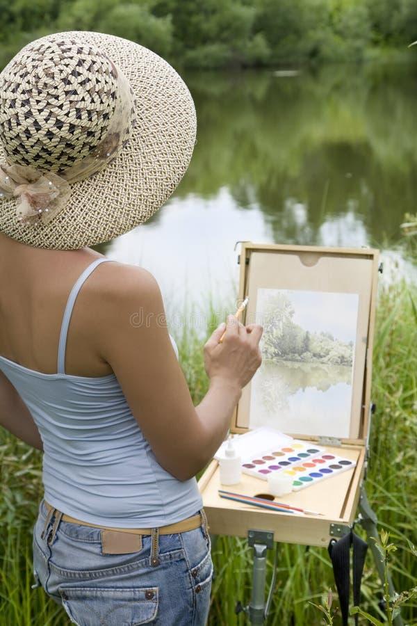 pittore fotografia stock