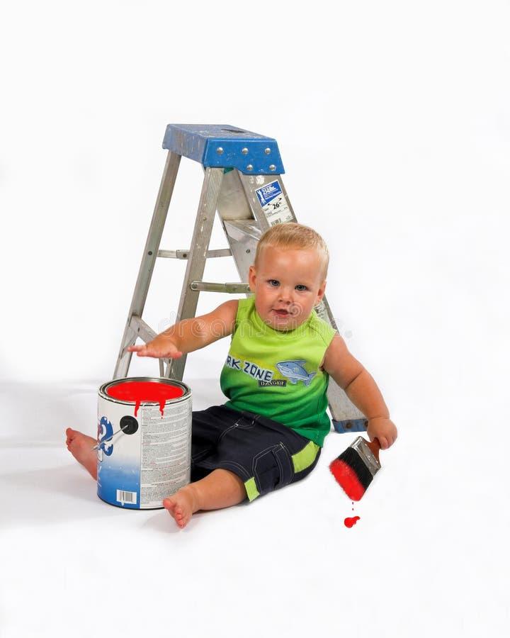 Pittore del bambino fotografie stock libere da diritti