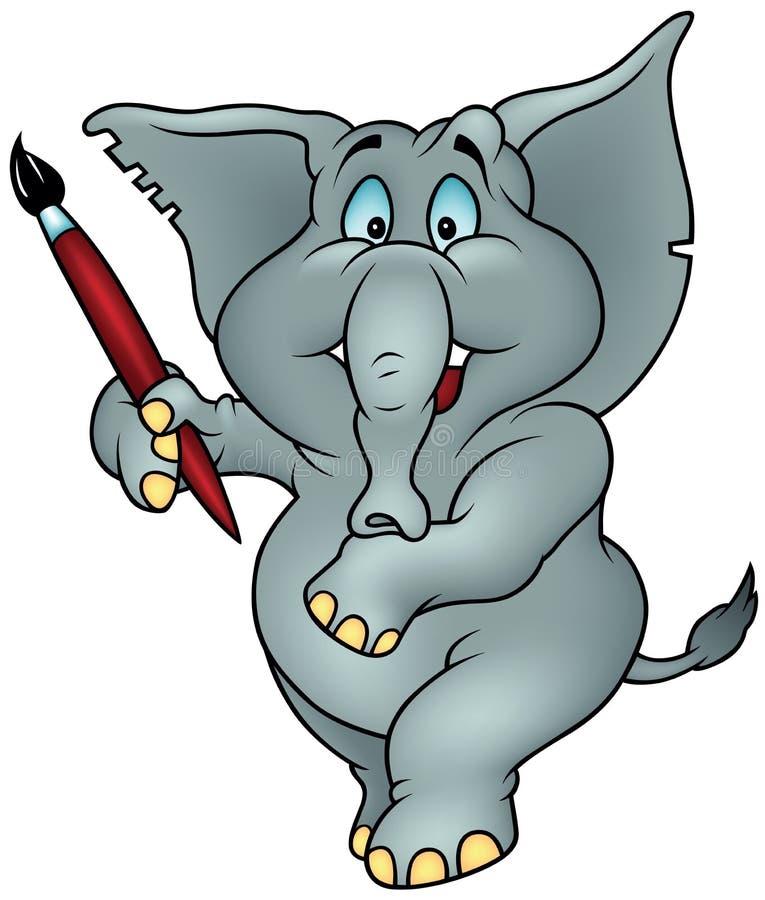 Pittore dell'elefante illustrazione vettoriale