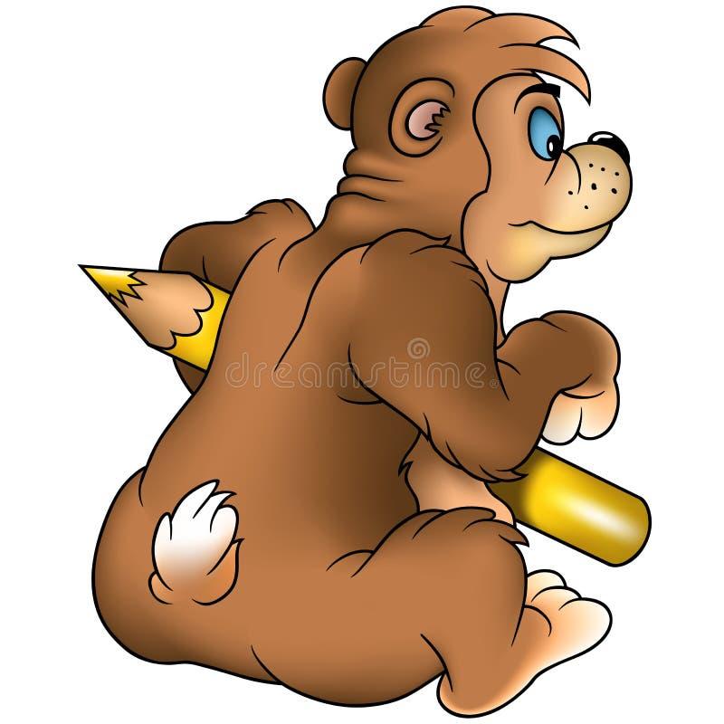 Download Pittore dell'orso di Brown illustrazione vettoriale. Illustrazione di pittore - 3891673