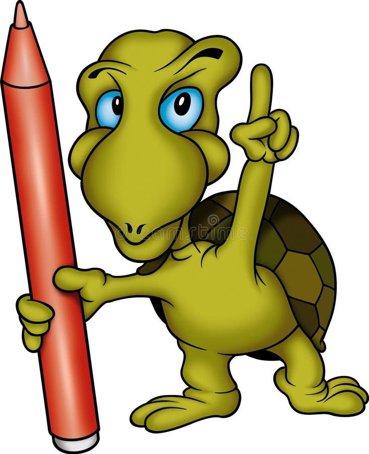 Pittore della tartaruga illustrazione di stock