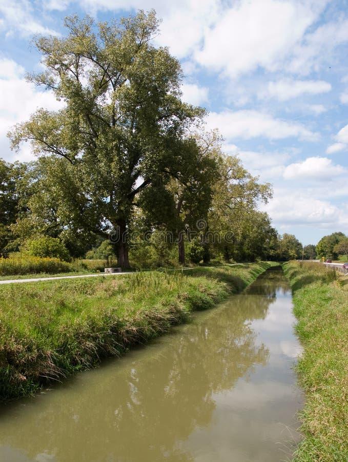 pittoresk flod för bygd arkivbild