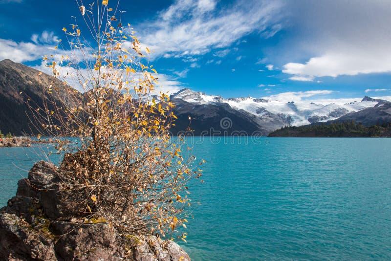 Pittoresk garibaldisjö nära whistler f. Kr. Kanada fotografering för bildbyråer