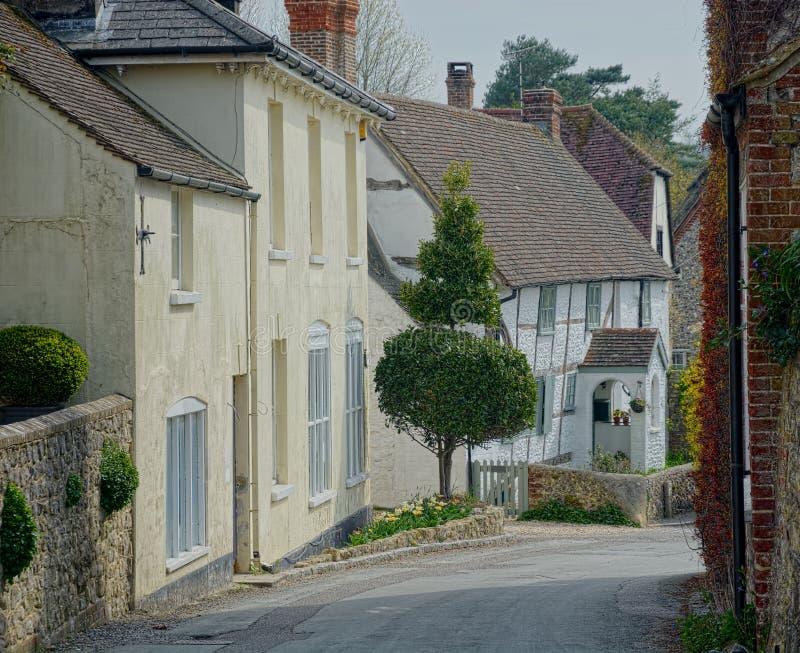 Pittoresk gataplats Byrekvisita, Sussex UK royaltyfri bild