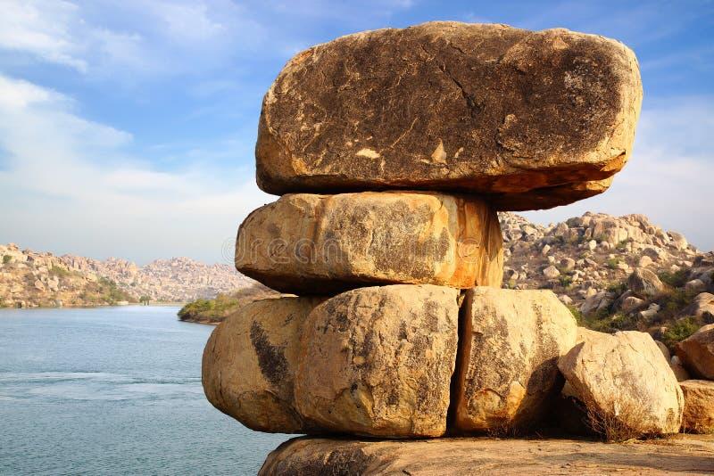 pittoresk natur för hampiindia liggande arkivfoton