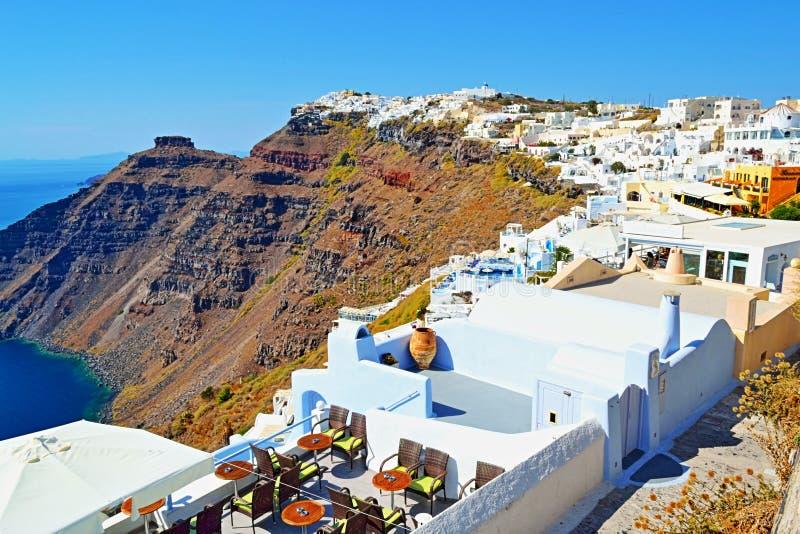 Pittoresk Santorini öarkitektur Cyclades Grekland royaltyfria foton