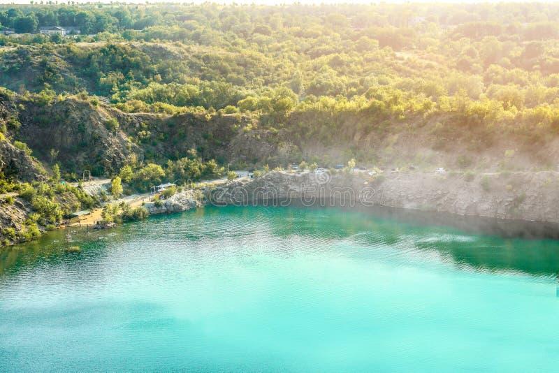 Pittoresk sikt av sjön fotografering för bildbyråer