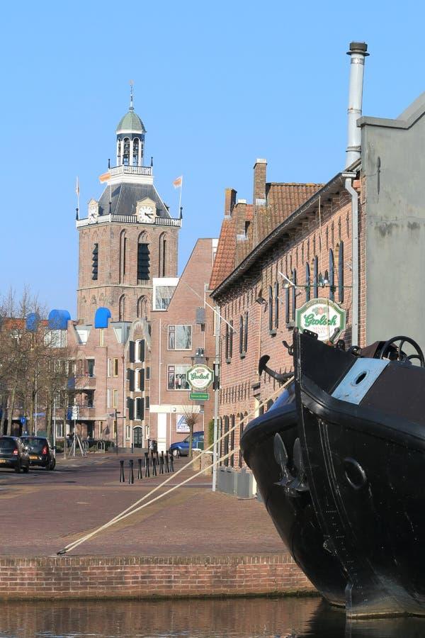 Pittoresk stad av Meppel, Nederländerna fotografering för bildbyråer