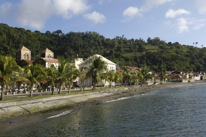 Pittoresk stad av Saint Pierre i Martinique arkivbild