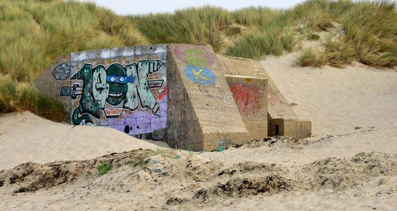 Pittoresk stad av Stella Plage i Nord Pas de Calais arkivbild