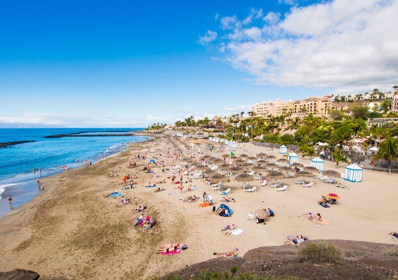 Pittoresk strand för El Duque i Tenerife royaltyfria foton