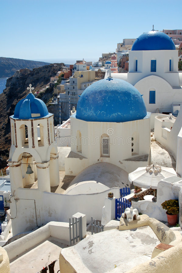 Pittoresk Town För Grekisk ö Royaltyfria Bilder