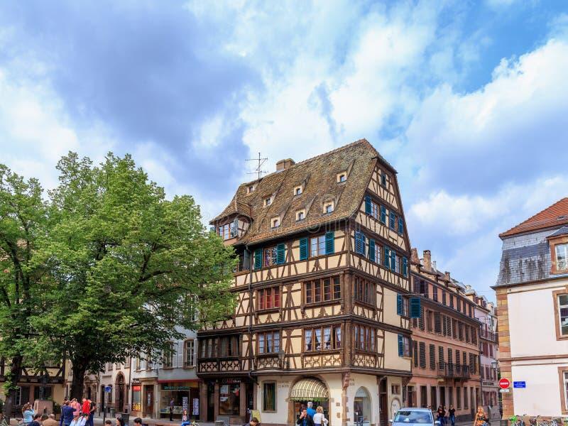 Pittoreska Strasbourg arkivfoton