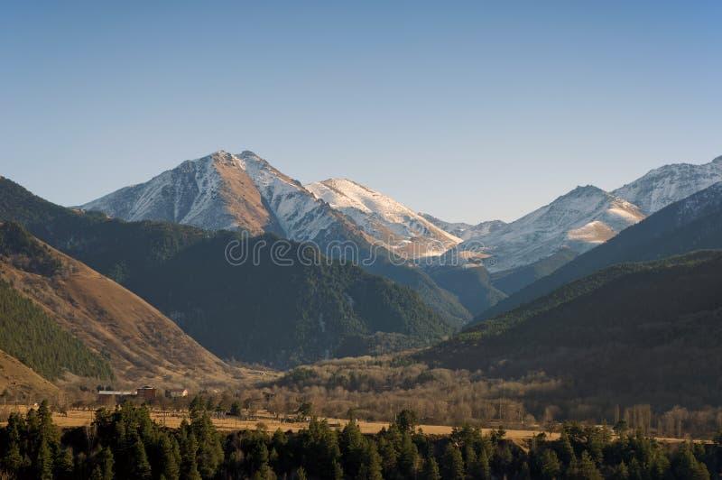 Pittoreskt berglandskap av Kaukasus Teberda Karachay-Cherkessia, Ryssland royaltyfria bilder