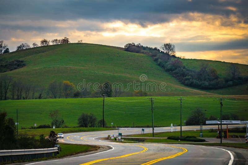 Pittoreskt höstlandskap i West Virginia arkivfoto
