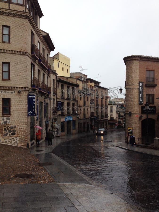 Pittoreskt hotell i Toledo, Spanien royaltyfri bild