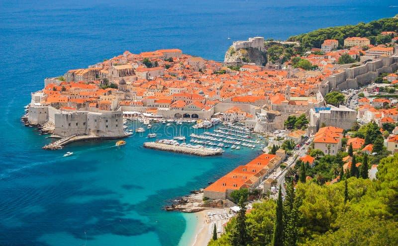 Pittoreskt ursnyggt landskap av Dubrovnik, Kroatien arkivfoto