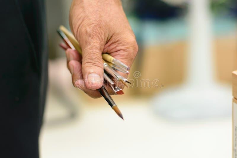 Pittori e pittori immagini stock libere da diritti