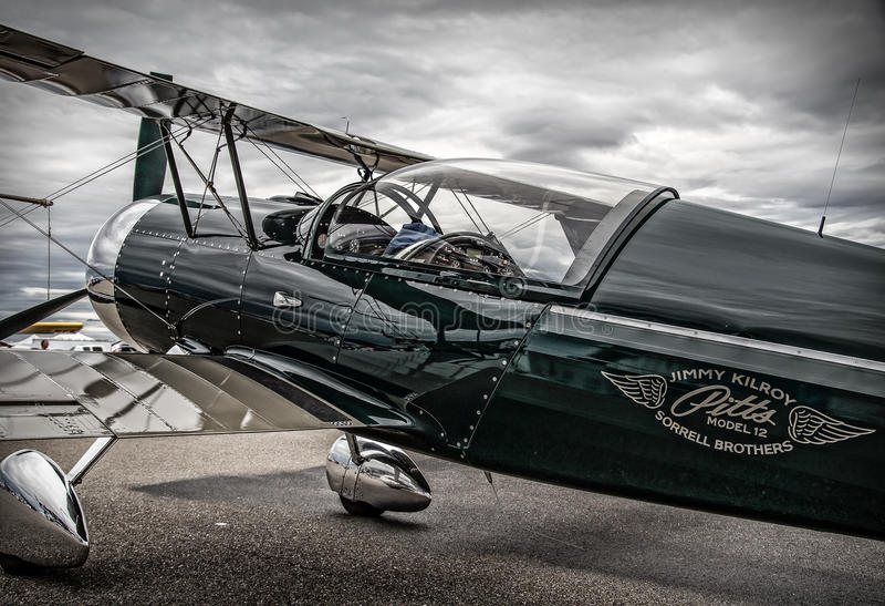 Pitts模型12特技飞机 免版税库存图片