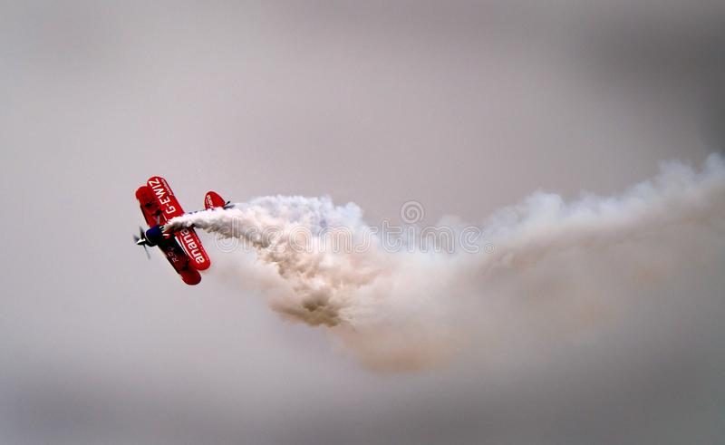 Pitts Special aerobatic display aircraft. stock image