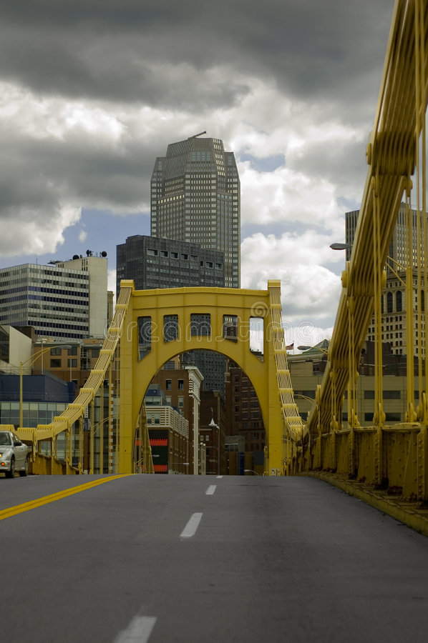 Pittsburgh-Brücke lizenzfreies stockfoto