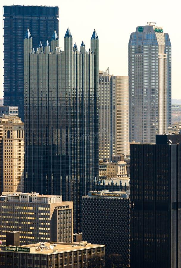 Pittsburgh céntrica foto de archivo libre de regalías