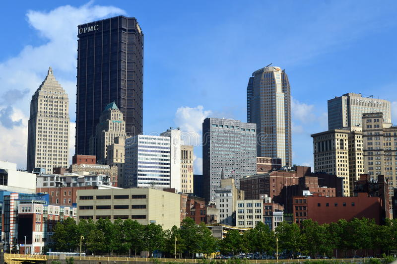 Pittsburgh céntrica del West End foto de archivo