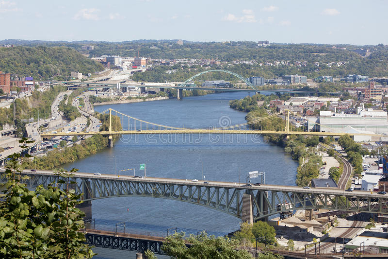 Pittsburgh céntrica, Pennsylvania fotos de archivo
