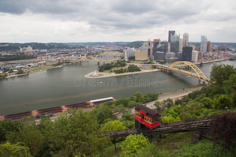 Pittsburgh Cityscape royaltyfri fotografi