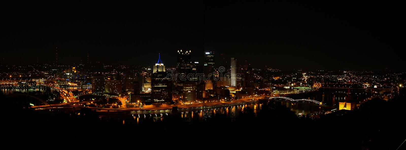 Pittsburgh, de Horizon van de PAnacht royalty-vrije stock foto's