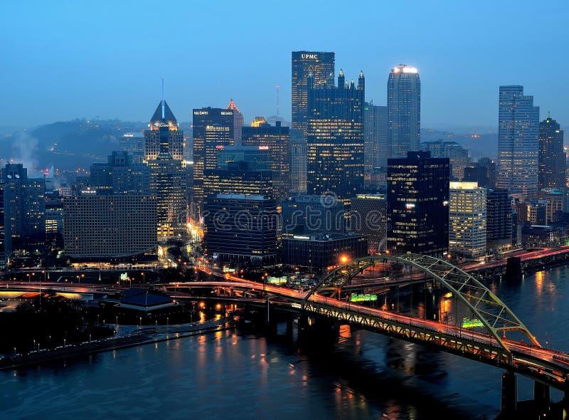 Pittsburgh die wekt wekken stock afbeeldingen