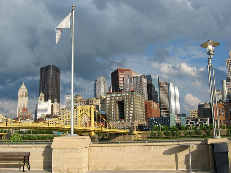 Pittsburgh, Downtown 01 royalty free stock images
