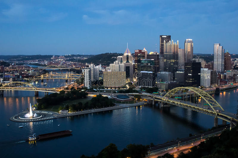Pittsburgh Evening royalty free stock photos