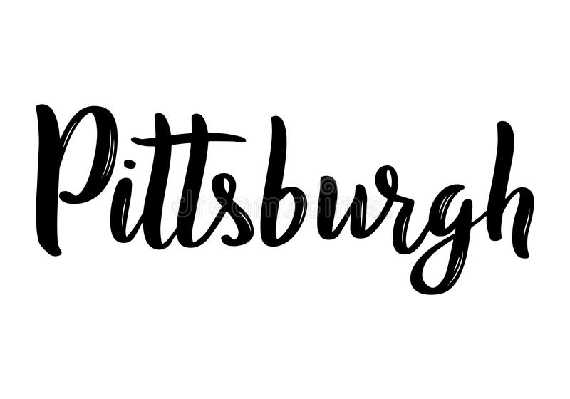 Pittsburgh hand-lettering calligraphy. Hand drawn brush calligraphy. vector illustration