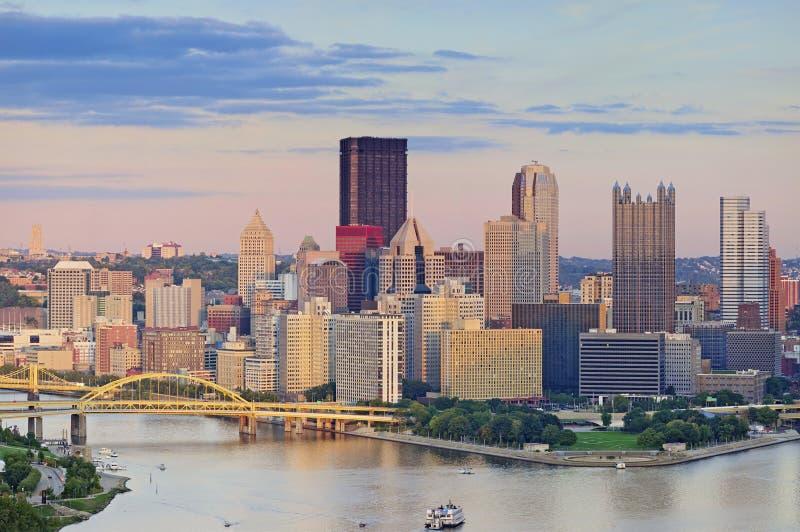 Pittsburgh horisont royaltyfria bilder
