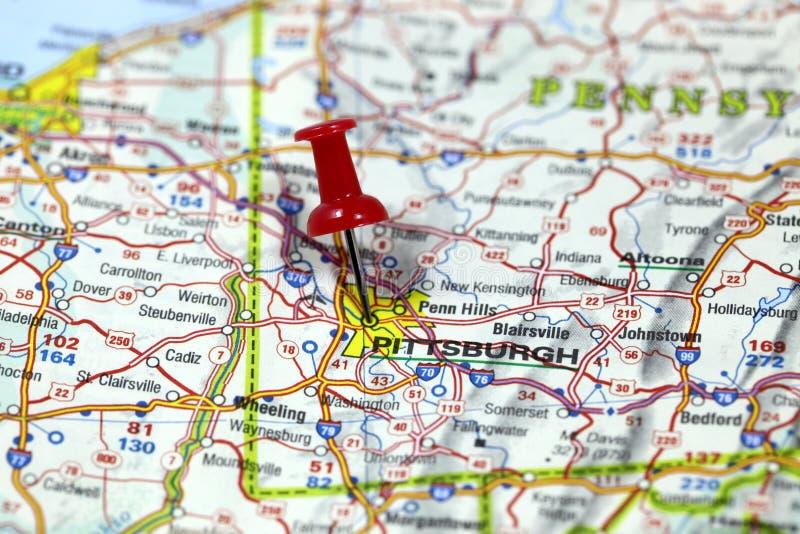 Pittsburgh i Pennsylvania, USA royaltyfri fotografi