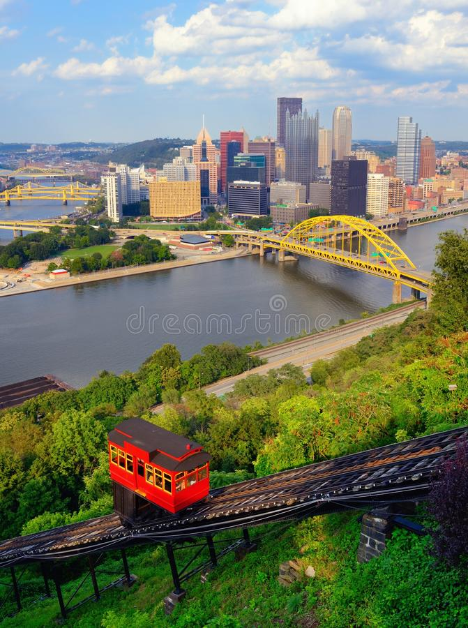Download Pittsburgh Incline stock photo. Image of rail, business - 26288856