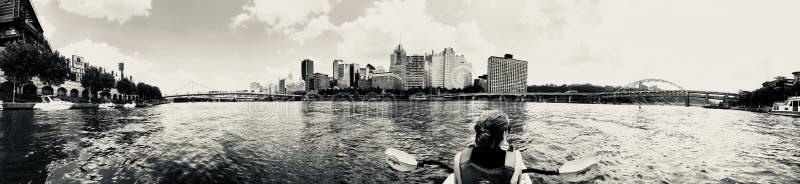 Pittsburgh Kayaking fotos de archivo libres de regalías