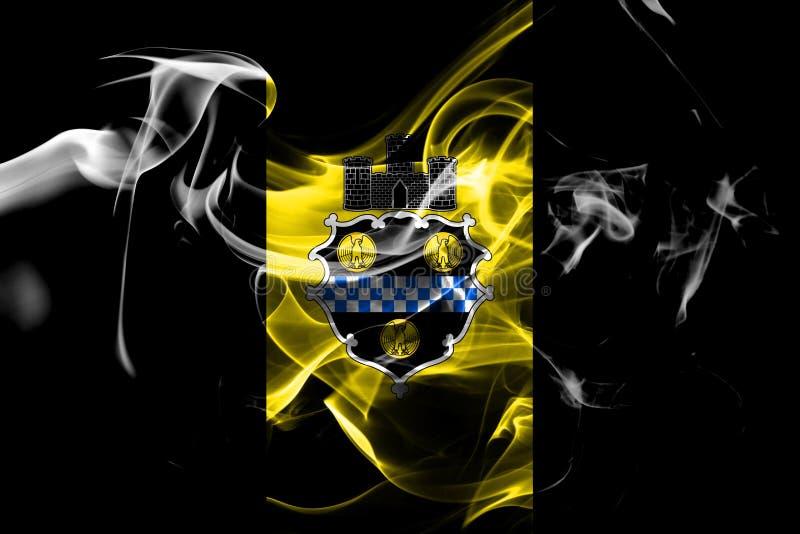 Pittsburgh miasta dymu flaga, Pennsylwania stan, Stany Zjednoczone obrazy royalty free