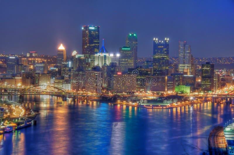 Pittsburgh noc zdjęcia stock