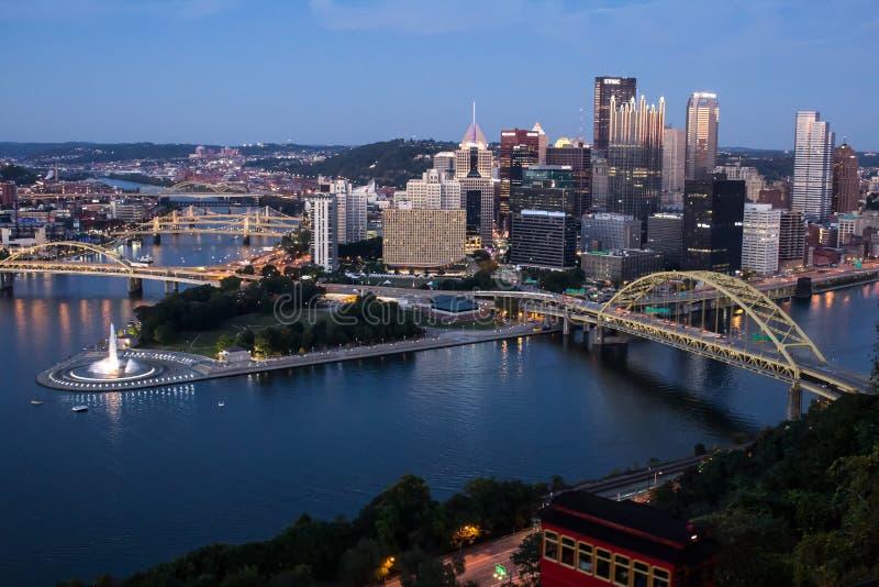 Pittsburgh och Duquesne sluttning arkivfoto
