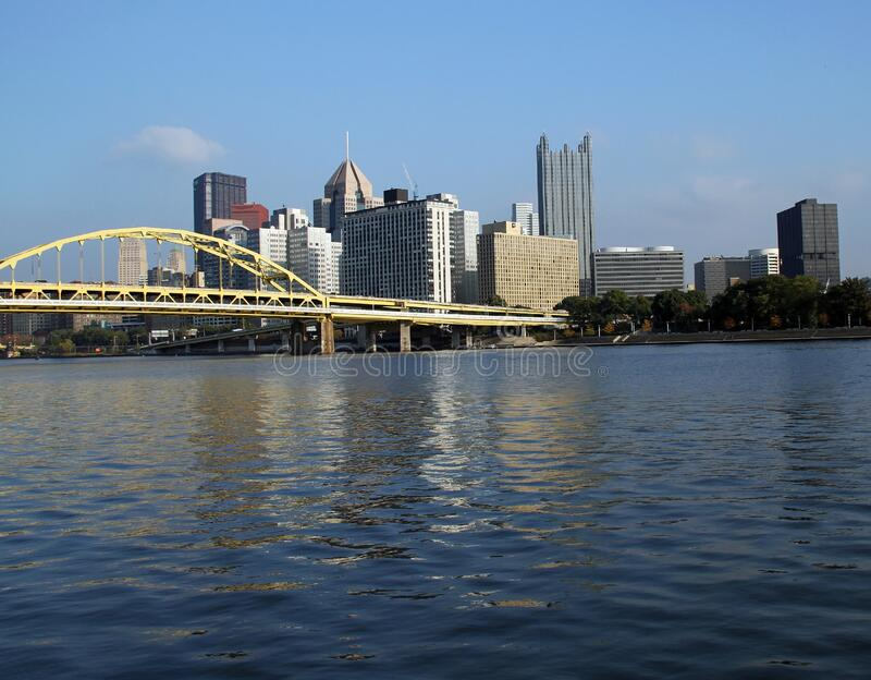 Pittsburgh, PA Skyline on the River stock image