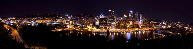 Pittsburgh panorámica Pennsylvania foto de archivo