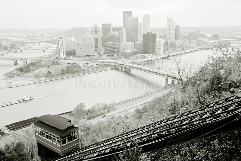 Pittsburgh-Panorama stockfotos