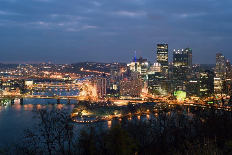 Pittsburgh panorama arkivfoto