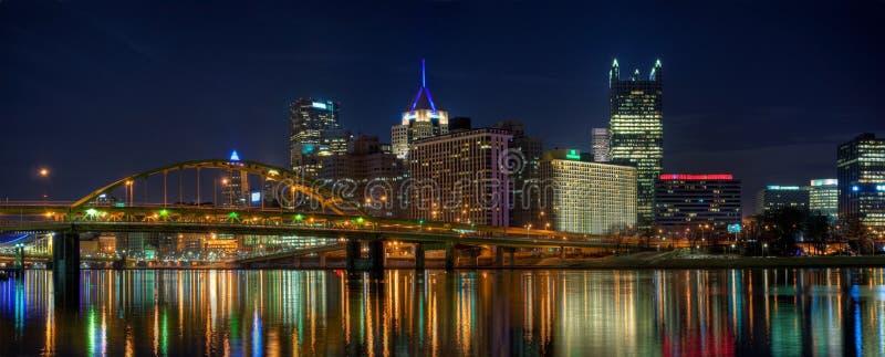 Pittsburgh-Panorama stockfotos