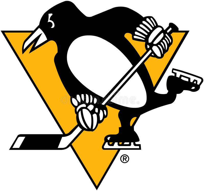 Pittsburgh Penguins Hockey Club Emblem USA stock abbildung