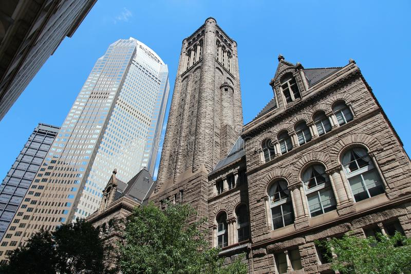 Pittsburgh. Pennsylvania - city in the United States. Famous Allegheny county courthouse royalty free stock photography