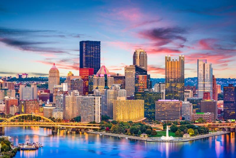 Pittsburgh, Pennsylvania, de Rivier van de V.S. en Horizon royalty-vrije stock afbeelding